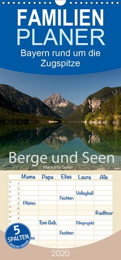 Berge und Seen rund um die Zugspitze – Familienplaner hoch (Wandkalender 2020 , 21 cm x 45 cm, hoch) von Seiler,  Manuela