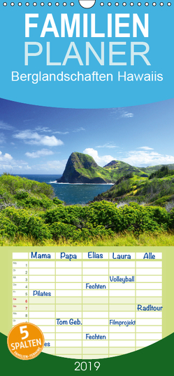Berglandschaften Hawaiis – Familienplaner hoch (Wandkalender 2019 , 21 cm x 45 cm, hoch) von by Sylvia Seibl,  CrystalLights