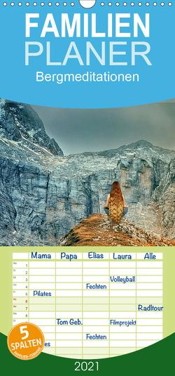 Bergmeditationen – Familienplaner hoch (Wandkalender 2021 , 21 cm x 45 cm, hoch) von Brunner-Klaus,  Liselotte