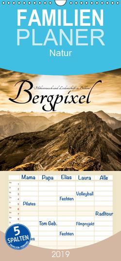 """Bergpixel """"Höhenrausch und Leidenschaft"""" – Familienplaner hoch (Wandkalender 2019 , 21 cm x 45 cm, hoch) von Major,  Maik"""