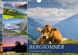Bergsommer im Berner Oberland (Wandkalender 2018 DIN A4 quer) von Caccia,  Enrico