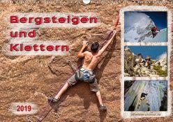 Bergsteigen und Klettern (Wandkalender 2019 DIN A3 quer)