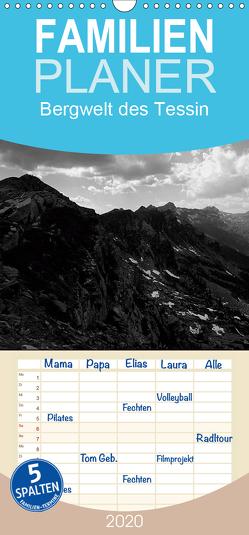 Bergwelt des Tessin – Familienplaner hoch (Wandkalender 2020 , 21 cm x 45 cm, hoch) von Gräf,  Ulrich