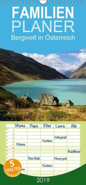 Bergwelt in Österreich – Familienplaner hoch (Wandkalender 2019 , 21 cm x 45 cm, hoch) von Riedel,  Tanja