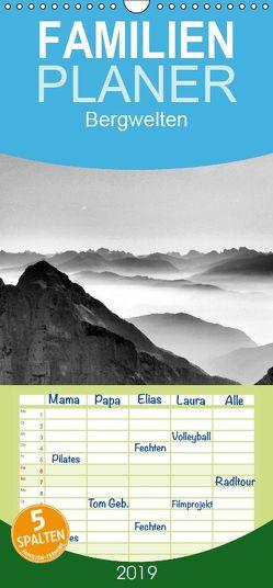 Bergwelten – Familienplaner hoch (Wandkalender 2019 , 21 cm x 45 cm, hoch) von Kirschnick,  Sonja