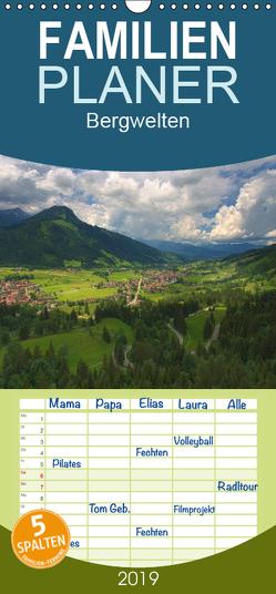 Bergwelten – Familienplaner hoch (Wandkalender 2019 , 21 cm x 45 cm, hoch) von Gierok,  Steffen