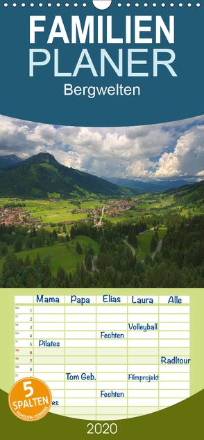 Bergwelten – Familienplaner hoch (Wandkalender 2020 , 21 cm x 45 cm, hoch) von Gierok,  Steffen