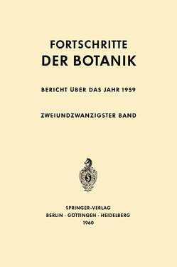 Bericht über das Jahr 1959 von Bünning,  Erwin, Gäumann,  Ernst