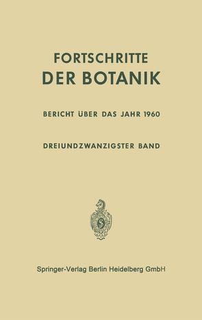 Bericht über das Jahr 1960 von Bünning,  Erwin, Gäumann,  Ernst