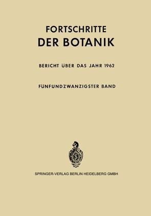 Bericht über das Jahr 1962 von Bünning,  Erwin, Gäumann,  Ernst