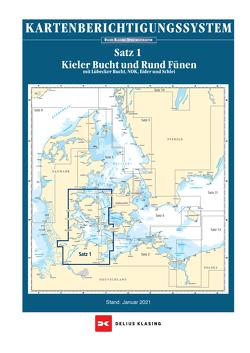 Berichtigung Sportbootkarten Satz 1: Kieler Bucht und Rund Fünen (Ausgabe 2021) von Agency,  Danish Geodata