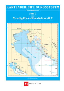 Berichtigung Sportbootkarten Satz 7: Adria 1 (Ausgabe 2021) von Agency,  Danish Geodata