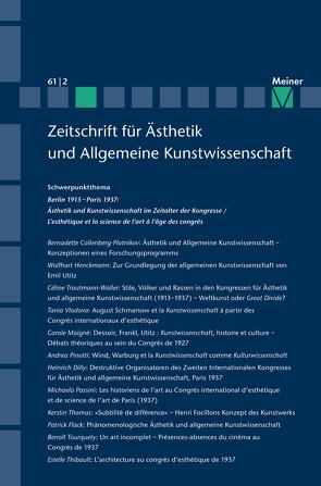 Berlin 1913 – Paris 1937. Ästhetik und Kunstwissenschaft im Zeitalter der Kongresse von Früchtl,  Josef, Moog-Grünewald,  Maria