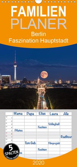 Berlin – Faszination Hauptstadt – Familienplaner hoch (Wandkalender 2020 , 21 cm x 45 cm, hoch) von Claude Castor I 030mm-photography,  Jean