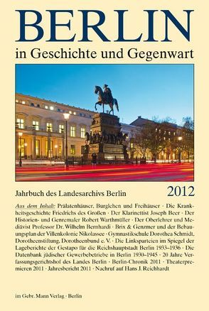 Berlin in Geschichte und Gegenwart von Breunig,  Werner, Schaper,  Uwe
