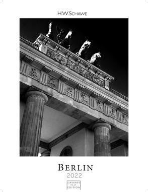 Berlin schwarz-weiss 2022 L 59x42cm von Schawe,  Heinz-werner