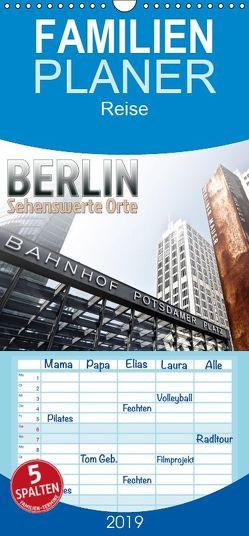 BERLIN Sehenswerte Orte – Familienplaner hoch (Wandkalender 2019 , 21 cm x 45 cm, hoch) von Viola,  Melanie