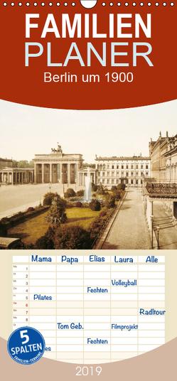 Berlin um 1900 – Familienplaner hoch (Wandkalender 2019 , 21 cm x 45 cm, hoch) von akg-images