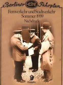 Berliner ABC Fahrplan 1939 von Beckerath,  Klaus von