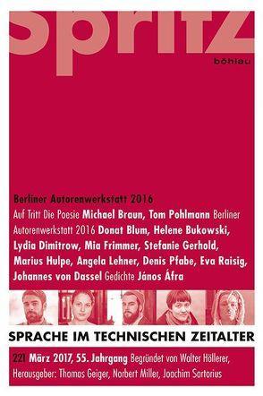 Berliner Autorenwerkstatt 2016 von Geiger,  Thomas, Miller,  Norbert, Sartorius,  Joachim