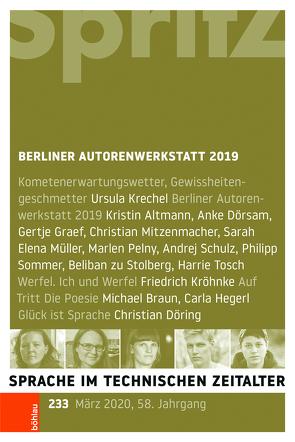 Berliner Autorenwerkstatt 2019 von Geiger,  Thomas, Miller,  Norbert, Sartorius,  Joachim