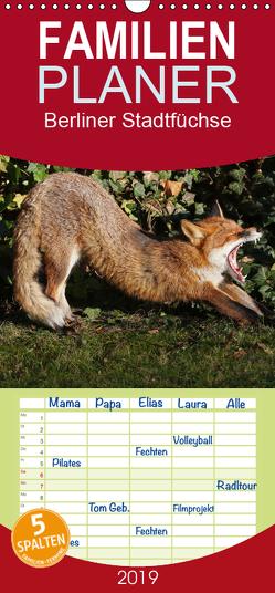 Berliner Stadtfüchse – Familienplaner hoch (Wandkalender 2019 , 21 cm x 45 cm, hoch) von Konieczka,  Klaus