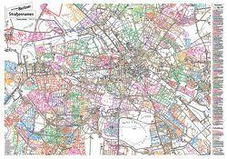 Berliner Straßennamen – Themenstadtplan von Gauglitz,  Gerd