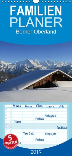 Berner Oberland – Familienplaner hoch (Wandkalender 2019 , 21 cm x 45 cm, hoch) von André-Huber / www.swissmountainview.ch,  Franziska