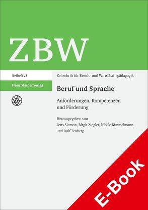 Beruf und Sprache von Kimmelmann,  Nicole, Siemon,  Jens, Tenberg,  Ralf, Ziegler,  Birgit