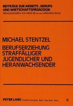 Berufserziehung straffälliger Jugendlicher und Heranwachsender von Stentzel,  Michael