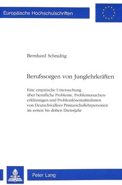 Berufssorgen von Junglehrkräften von Schnidrig,  Bernhard