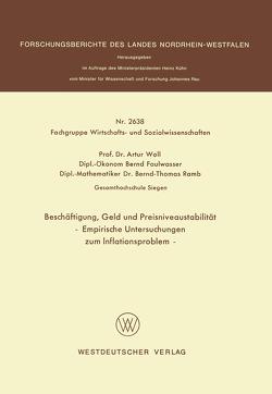 Beschäftigung, Geld und Preisniveaustabilität von Woll,  Artur