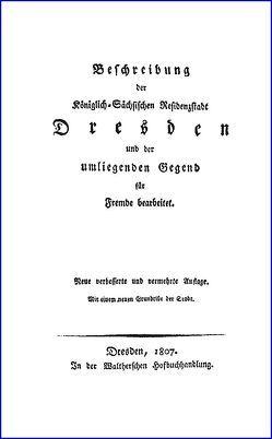 Beschreibung der Königlich-Sächsischen Residenzstadt Dresden und der umliegenden Gegend von Anonym,  x