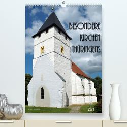 Besondere Kirchen Thüringens (Premium, hochwertiger DIN A2 Wandkalender 2021, Kunstdruck in Hochglanz) von Flori0