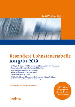 Besondere Lohnsteuertabelle 2019 – Jahr/Monat/Tag
