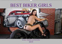 Best Biker Girls (Wandkalender 2019 DIN A2 quer) von Comandante,  Andreas