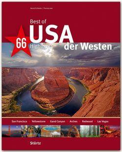 Best of USA – Der Westen – 66 Highlights von Jeier,  Thomas, Schlieder,  Bernd