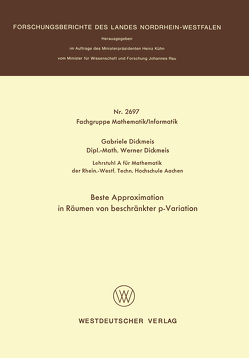 Beste Approximation in Räumen von beschränkter p-Variation von Dickmeis,  Gabriele