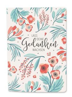 Besticktes Notizbuch – blütenreich