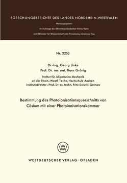 Bestimmung des Photoionisationsquerschnitts von Cäsium mit einer Photoionisationskammer von Linke,  Georg