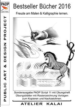 Bestseller Bücher 2016 – Freude am Malen & Kalligraphie lernen. von K-Winter Atelier-Kalai
