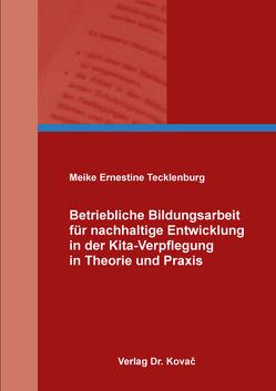 Betriebliche Bildungsarbeit für nachhaltige Entwicklung in der Kita-Verpflegung in Theorie und Praxis von Tecklenburg,  Meike Ernestine