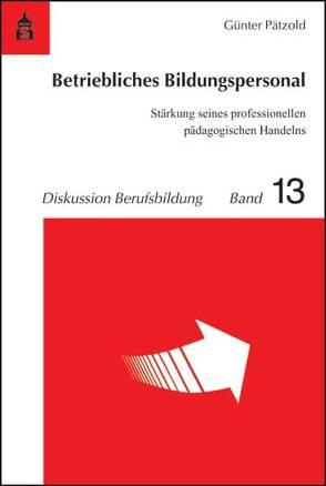 Betriebliches Bildungspersonal von Pätzold,  Günter