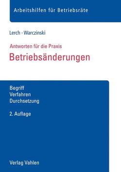 Betriebsänderungen von Lerch,  Sascha, Warczinski,  Katharina