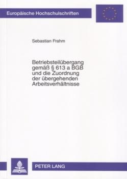 Betriebsteilübergang gemäß § 613 a BGB und die Zuordnung der übergehenden Arbeitsverhältnisse von Frahm,  Sebastian