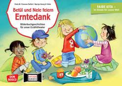 Betül und Nele feiern Erntedank. Kamishibai Bildkartenset. von Fromme-Seifert,  Viola M., Kamcili-Yildiz,  Naciye, Pohl,  Gabriele