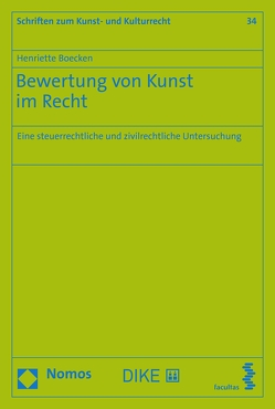 Bewertung von Kunst im Recht von Boecken,  Henriette