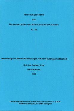 Bewertung von Raumluftströmungen mit der Spurengasmesstechnik von Jung,  Andreas