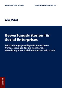 Bewertungskriterien für Social Enterprises von Wetzel,  Julia