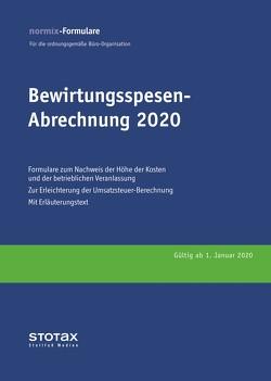 Bewirtungsspesen – Abrechnungen 2020, Formularblock